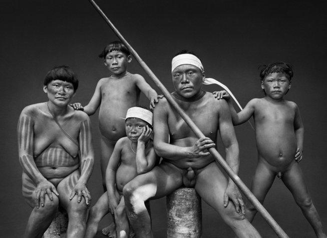 Photographie d'une Famille Korubo, État d'Amazonas, Brésil, 2017