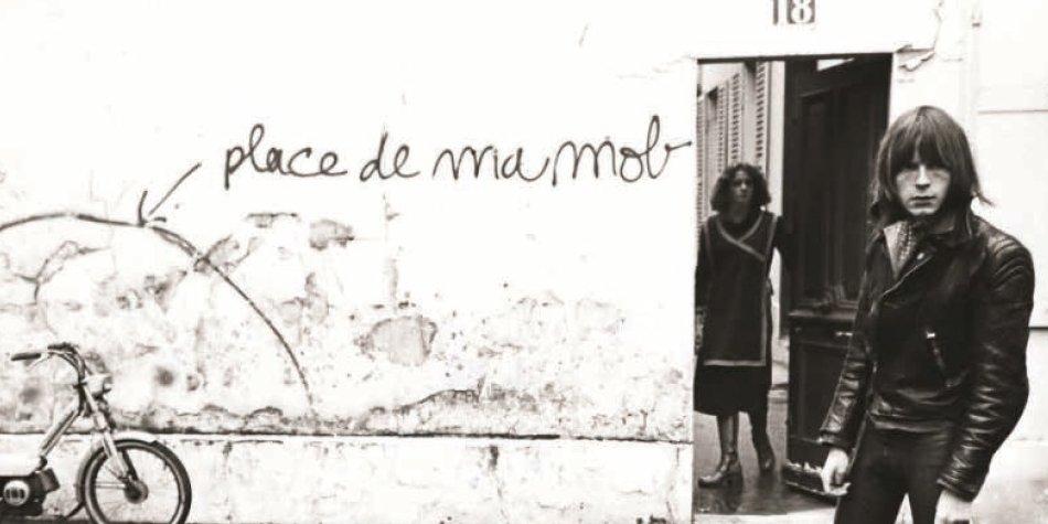 Prise de vue pour la pochette de l'album Place de ma mob, 1977