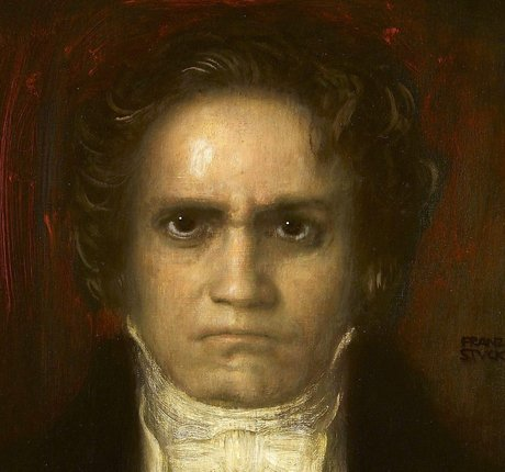Photo d'un portrait de Beethoven